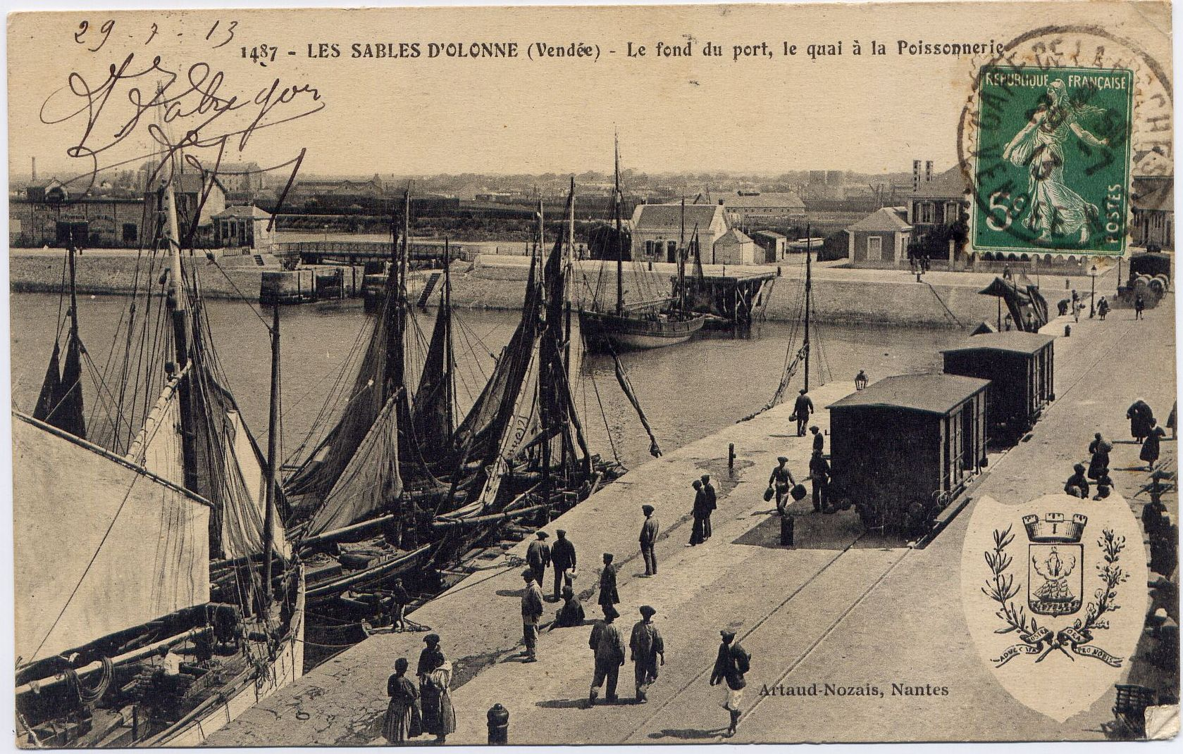 Quai Port Peche_Archives Municipales - Les Sables D Olonne